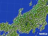 北陸地方のアメダス実況(風向・風速)(2016年03月13日)
