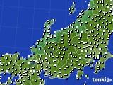 北陸地方のアメダス実況(風向・風速)(2016年03月14日)