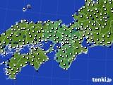 2016年03月14日の近畿地方のアメダス(風向・風速)