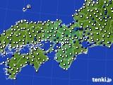 2016年03月15日の近畿地方のアメダス(風向・風速)