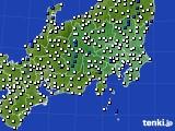 関東・甲信地方のアメダス実況(風向・風速)(2016年03月16日)