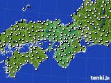 2016年03月16日の近畿地方のアメダス(風向・風速)