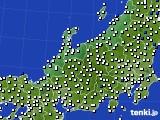 北陸地方のアメダス実況(風向・風速)(2016年03月17日)