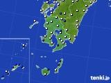 2016年03月17日の鹿児島県のアメダス(風向・風速)
