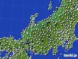 2016年03月19日の北陸地方のアメダス(風向・風速)