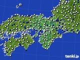 2016年03月19日の近畿地方のアメダス(風向・風速)