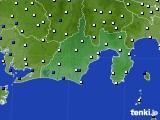 2016年03月19日の静岡県のアメダス(風向・風速)