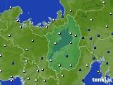 2016年03月19日の滋賀県のアメダス(風向・風速)