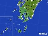 2016年03月19日の鹿児島県のアメダス(風向・風速)