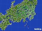 関東・甲信地方のアメダス実況(風向・風速)(2016年03月20日)