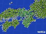 2016年03月20日の近畿地方のアメダス(風向・風速)
