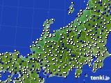 2016年03月21日の北陸地方のアメダス(風向・風速)