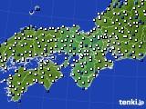 2016年03月22日の近畿地方のアメダス(風向・風速)