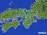 2016年03月23日の近畿地方のアメダス(風向・風速)