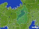 2016年03月23日の滋賀県のアメダス(風向・風速)