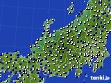 2016年03月24日の北陸地方のアメダス(風向・風速)