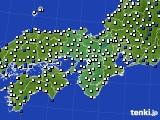 2016年03月27日の近畿地方のアメダス(風向・風速)