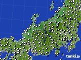 2016年03月30日の北陸地方のアメダス(風向・風速)