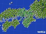 2016年03月30日の近畿地方のアメダス(風向・風速)
