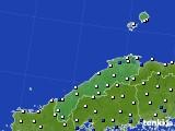 島根県のアメダス実況(風向・風速)(2016年03月30日)