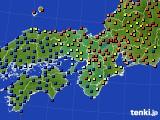 2016年03月31日の近畿地方のアメダス(日照時間)