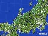 2016年04月02日の北陸地方のアメダス(風向・風速)