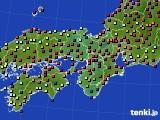 2016年04月09日の近畿地方のアメダス(日照時間)