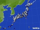2016年04月11日のアメダス(風向・風速)