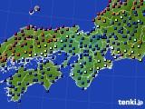 2016年04月25日の近畿地方のアメダス(日照時間)