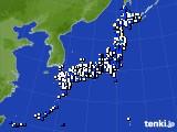 2016年04月29日のアメダス(風向・風速)