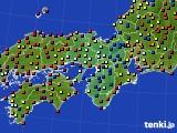 近畿地方のアメダス実況(日照時間)(2016年05月07日)