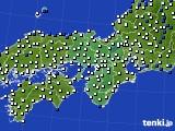 近畿地方のアメダス実況(風向・風速)(2016年05月07日)