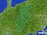 長野県のアメダス実況(気温)(2016年05月08日)