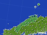 島根県のアメダス実況(風向・風速)(2016年05月08日)