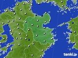 大分県のアメダス実況(風向・風速)(2016年05月08日)