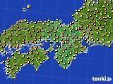 近畿地方のアメダス実況(気温)(2016年05月18日)