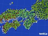2016年05月30日の近畿地方のアメダス(日照時間)