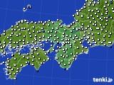 2016年05月30日の近畿地方のアメダス(風向・風速)