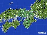 2016年05月31日の近畿地方のアメダス(風向・風速)
