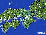 2016年06月01日の近畿地方のアメダス(風向・風速)