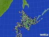 北海道地方のアメダス実況(風向・風速)(2016年06月02日)