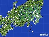 関東・甲信地方のアメダス実況(風向・風速)(2016年06月02日)