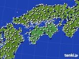 四国地方のアメダス実況(風向・風速)(2016年06月02日)