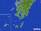 鹿児島県のアメダス実況(風向・風速)(2016年06月02日)