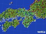 2016年06月06日の近畿地方のアメダス(日照時間)