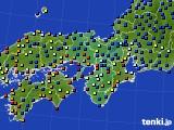 2016年06月09日の近畿地方のアメダス(日照時間)