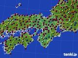 2016年06月10日の近畿地方のアメダス(日照時間)