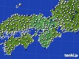 2016年06月12日の近畿地方のアメダス(風向・風速)