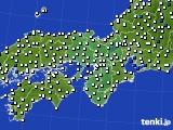 2016年06月14日の近畿地方のアメダス(風向・風速)