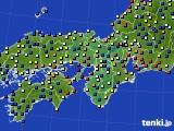 2016年06月15日の近畿地方のアメダス(日照時間)